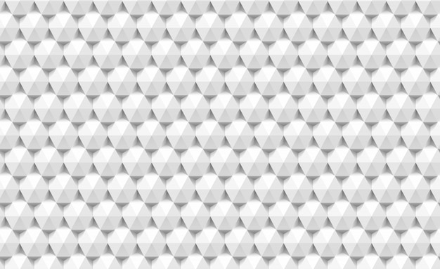 3d paper triangles and hexagons seamless pattern. abstract geometric texture of triangular.