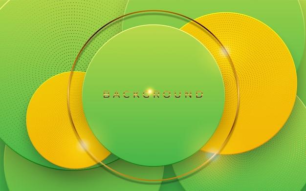 Абстрактная предпосылка 3d с геометрической формой наслаивает элемент. современный дизайн papercut.