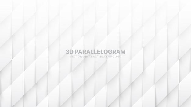 3d параллелограммы шаблон технологической белый абстрактный фон