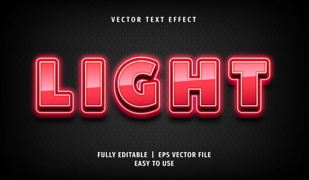 3d эффект розового светового текста, редактируемый текстовый стиль
