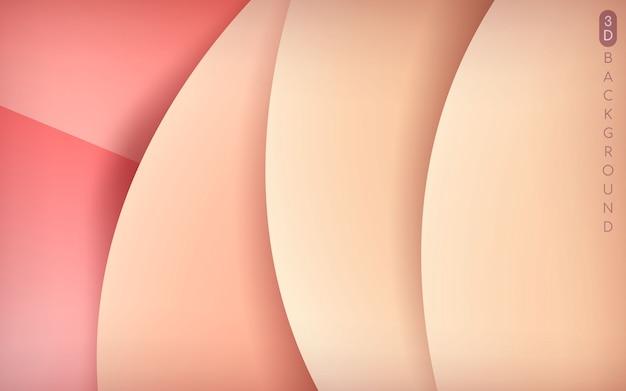 3dピンクのオーバーラップレイヤーの背景