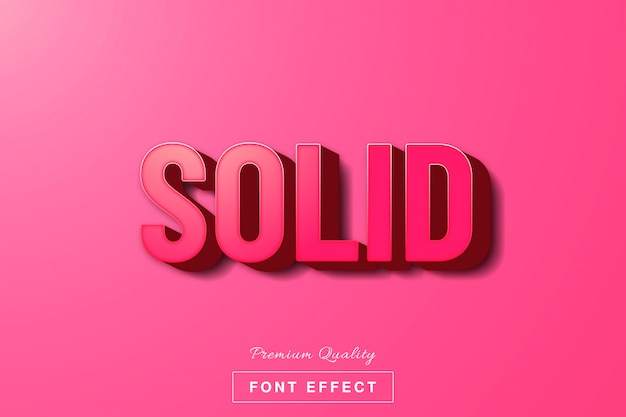 3d pink solid text effect