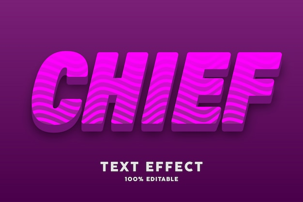 3d pink with wavy lines text effect