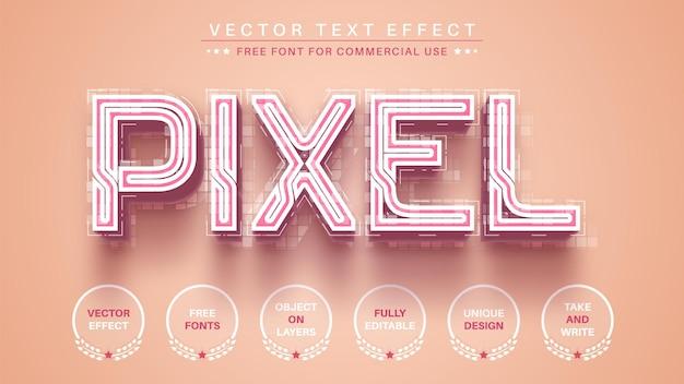 Редактировать текстовый эффект 3d-пикселя, редактируемый стиль шрифта