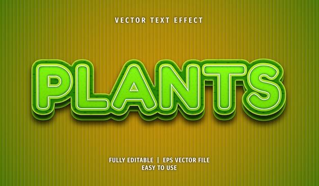 3d 식물 텍스트 효과, 편집 가능한 텍스트 스타일