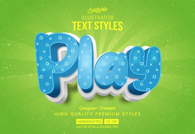 3d play стиль текста