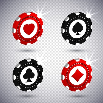 3d poker chips realistic style