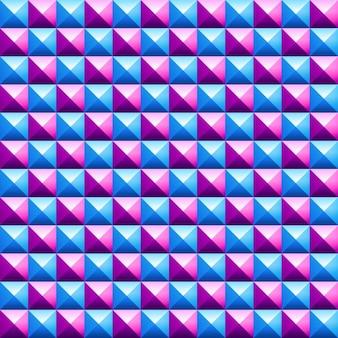Sfondo poligonale 3d in rosa e blu toni
