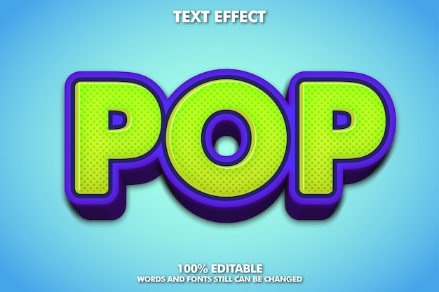3d 팝 아트 글꼴 효과