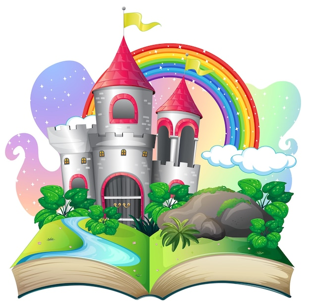 3d pop up book with castle fairy tale theme
