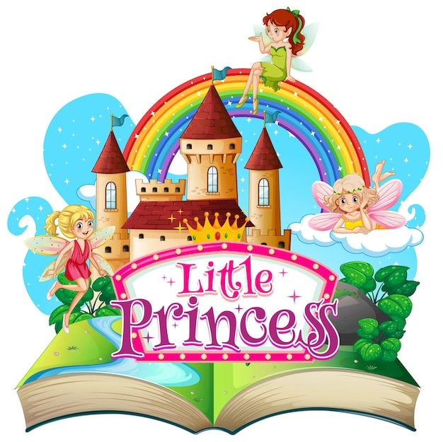 3d pop up book with little princess theme