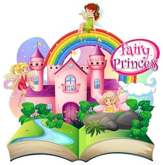 3d pop up book with little princess theme