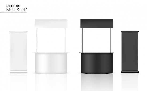 3d-макет реалистичный киоск-дисплей pop-стенд для продажи