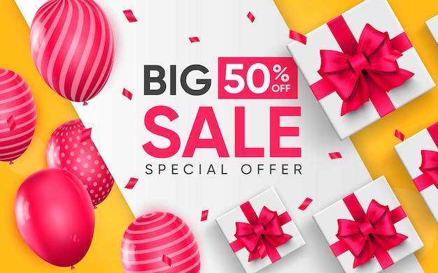 3d poster of big sale illustration of advertising