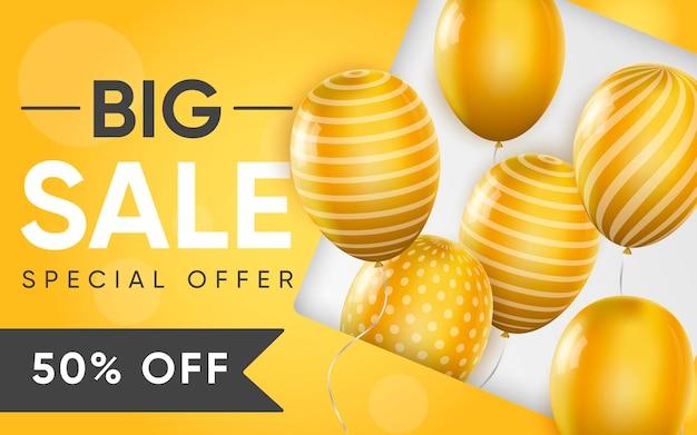 3d плакат big sale реалистичный дизайн иллюстрации рекламы
