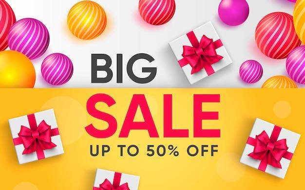 3d плакат большой распродажи на 50 процентов иллюстрации рекламы