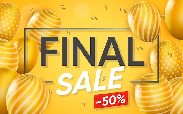 3d плакат финальной продажи иллюстрации рекламы