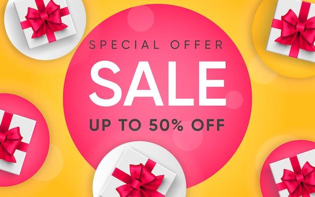 3d плакат специальное предложение продажа иллюстрации рекламы