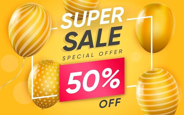 3d постер супер распродажа до 50% специальное предложение в реалистичном дизайне