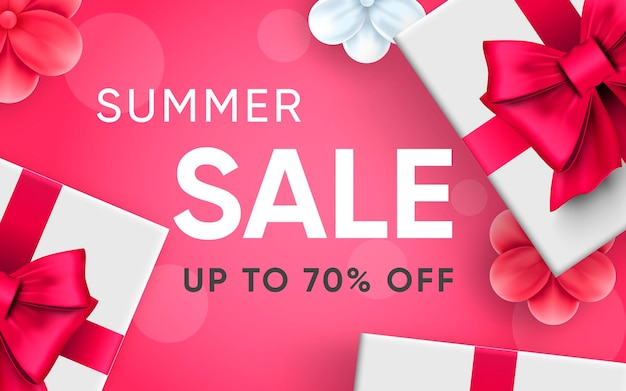 3d poster of summer sale realistic design illustration of advertising