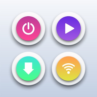 3d電源、再生、ダウンロード、wifiボタン。