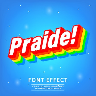 3d praide gradient color text effect with modern strong look