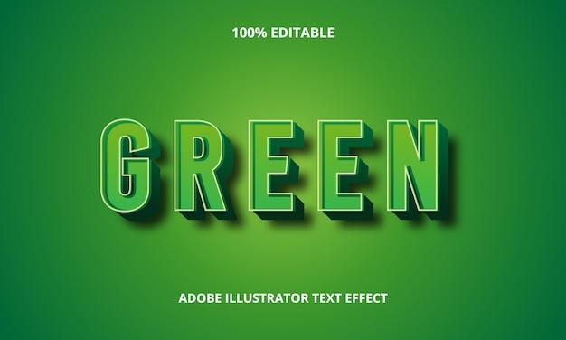 3d зеленый текстовый эффект premium