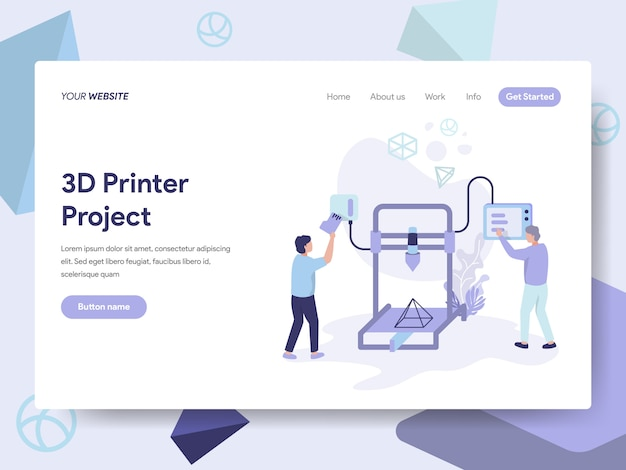 3d printer illustration