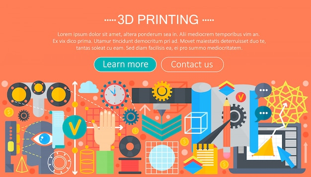 3d printer technology concept