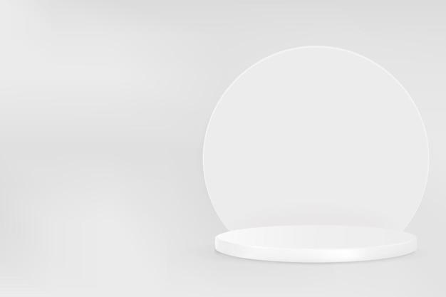 회색 톤의 디스플레이 연단이 있는 3d 제품 배경