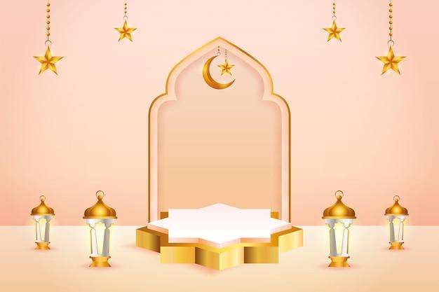 3d製品ディスプレイをテーマにしたイスラム