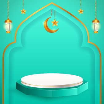 3d product display themed islamic
