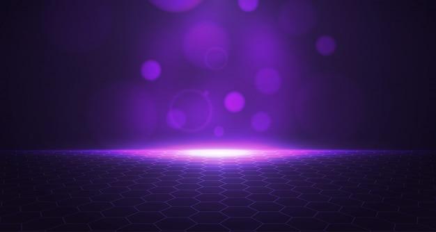 3 dの紫色の六角形の背景