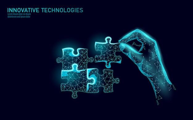 Части 3d-пазла соединены вместе