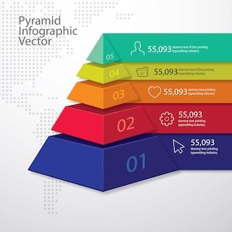 3d 피라미드 인포 그래픽