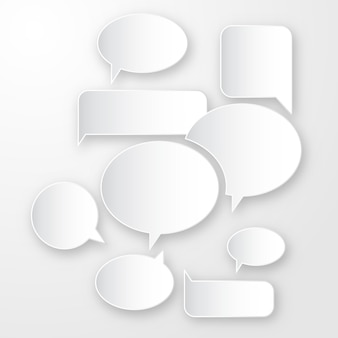 3 dの引用ラベル、プレゼンテーション用の空白のメッセージグラフィックイラスト