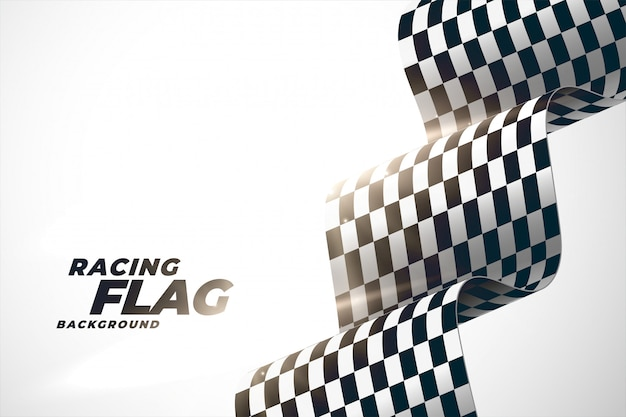 3d racing wavy flag background