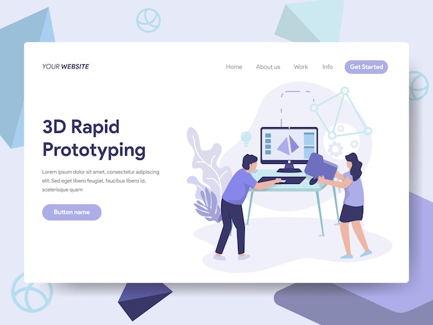 3d rapid prototyping illustration
