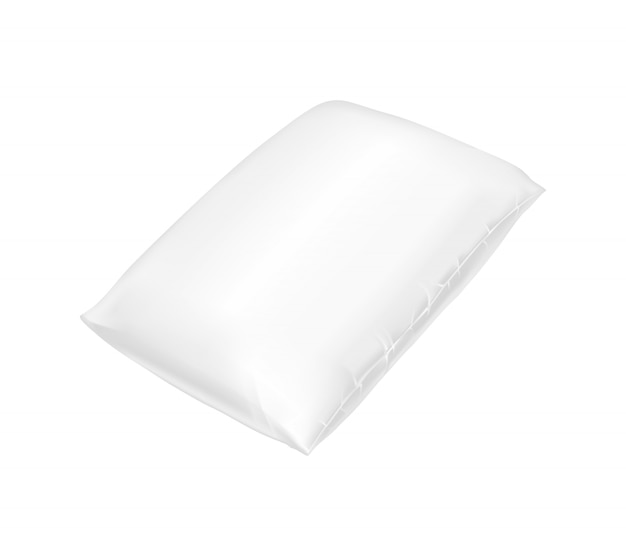 3d realistic comfortable square pillow.