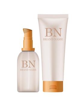 3d realistic cosmetics cream bottle fashion cosmetics product