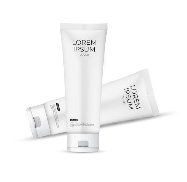 3d realistic cream tube product