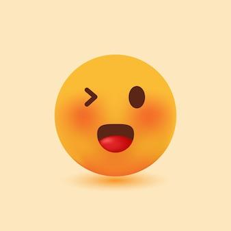 3d реалистичные милые улыбающиеся смайлики с мигающими глазами векторная иллюстрация шаржа