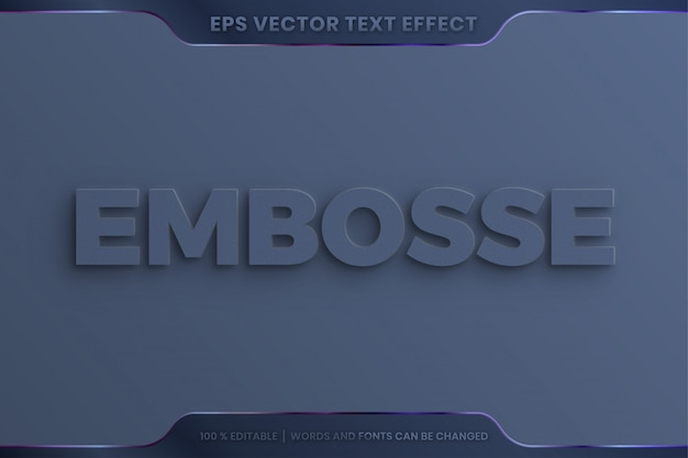 3d realistic elegant embossed text effect style editable