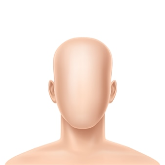 3d realistic faceless human model