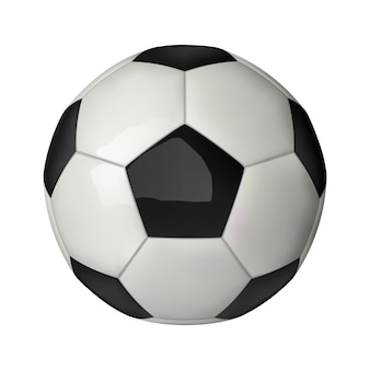 3d realistic football icon, soccer ball isolated