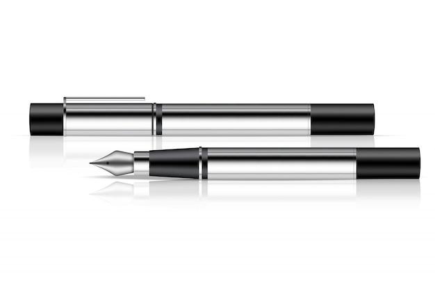 3d realistic fountain pen