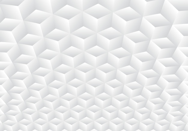 3d realistic geometric white and gray cubes pattern