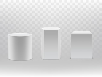 3d realistic geometrical shapes isolated on transparent background.