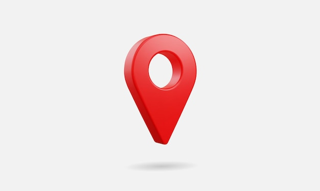 3d realistic location map pin gps pointer markers vector illustration for destination.