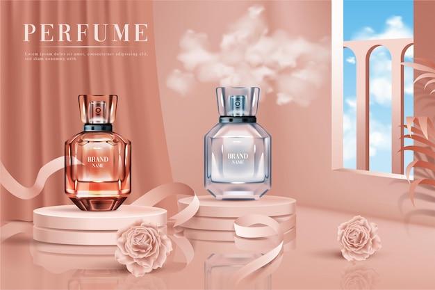 3d   realistic perfume bottle